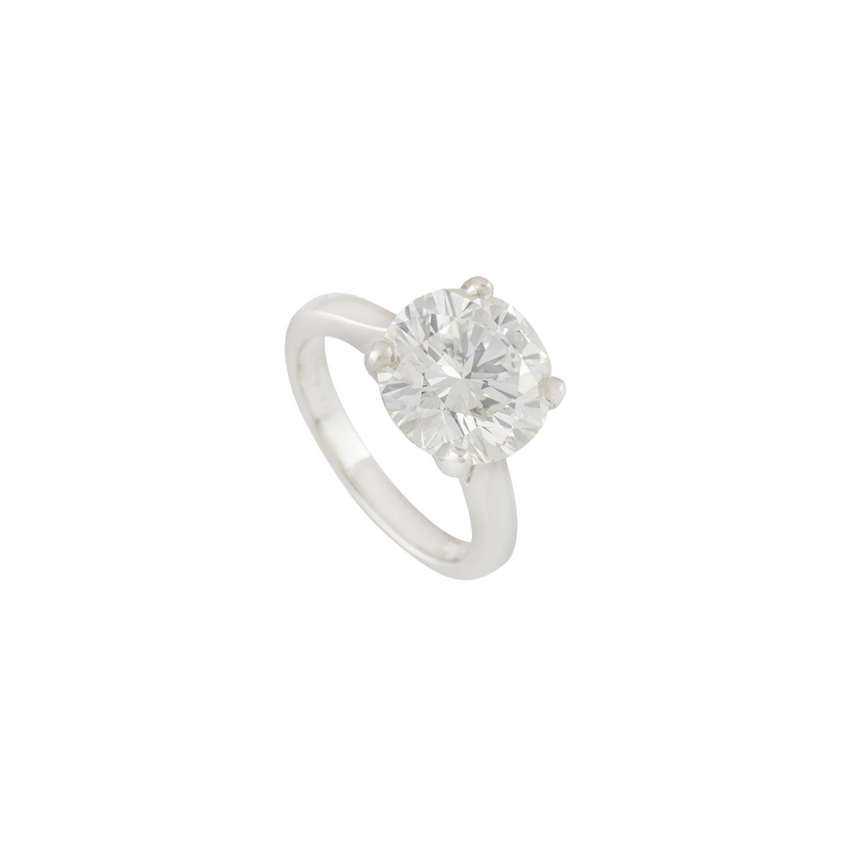 Platinum Diamond Ring 5.01ct J/VVS2